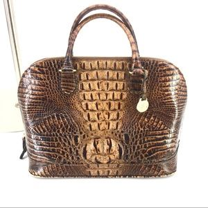 Brahmin Brown Leather Handbag Purse Shoulder Bag